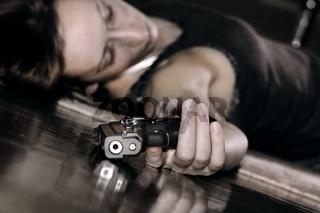 Selbstmord mit Pistole
