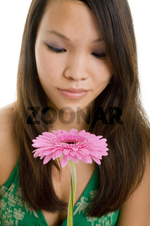 Blume betrachten
