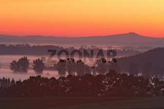 morning fog, mist, nebel, sunrise, sonnenaufgang, morgendaemerung, morning, baden wuerttemberg, germany, deutschland,