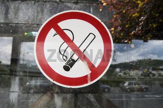 Nichtraucheraufkleber.
