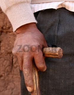 Hand am Stock (Peru)