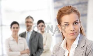 Businesswoman in closeup