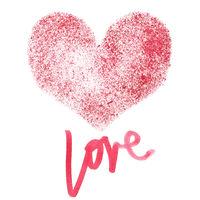 Love - Stencil red heart