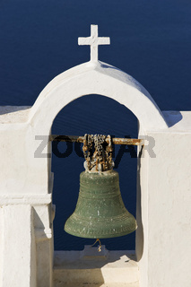 bell tower in Oia, Santorini