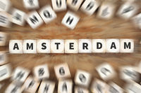 Amsterdam Stadt Reise Reisen Würfel Business Konzept