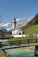 Pfarrkirche St. Sebastian (Ramsauer Kirche) mit Reiter Alpe