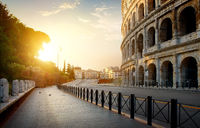 Colosseum in the morning