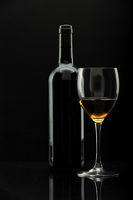 bottle of wine and wineglass