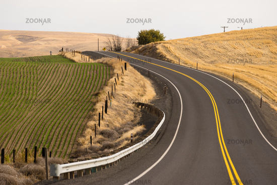 Open Road Two Lane Highway Oregon State USA