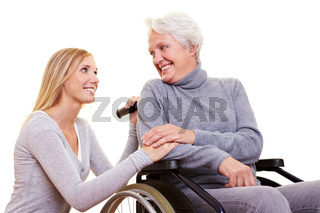 Betreuung einer älteren Frau