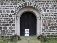 Information sign church open