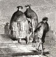 Venetian costumes, 18th century
