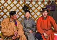 At the home of Mongolian herders, Mongolia