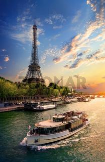 On bank of Seine