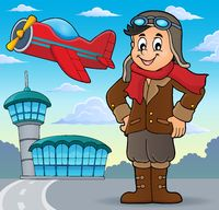 Aviation theme image 3 - picture illustration.