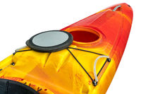 kayak deck with open hatch