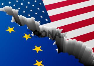 Flag USA Europe Crack