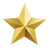 shiny golden christmas star