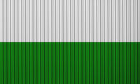 Fahnevon Sachsen auf Wellblech - Flag of Saxony on corrugated iron