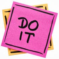 Do it motivational reminder note