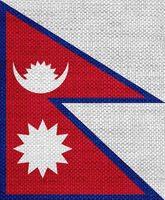 Fahne von Nepal auf altem Leinen - Flag of Nepal on old linen