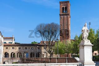 view of campanile di San Domenico Mantua city