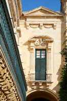 The long wooden balconies on the Grandmaster's Palace, Valletta, Malta