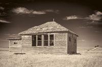 abandoned house in rural Nebraska