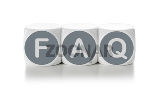 Letter dice on a white background - FAQ