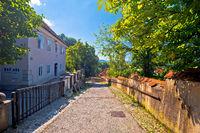 Ljubljana old city cobbled upper town walkway