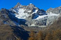 Zermatter Bergwelt: v.l.n.r. Ober Gabelhorn