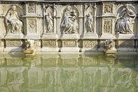 Fonte Gaia, fountain, Piazza del Campo, square, Siena, Tuscany, Italy, Europe