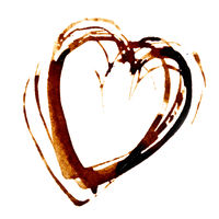 Heart - Coffee stain