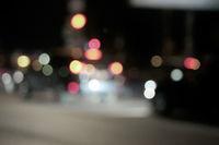 City night scene bokeh shot.