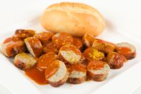 sausage with curry sauce