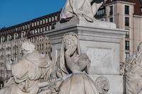 Sculpture at the Schiller memorial - Gendarmenmarkt, Berlin
