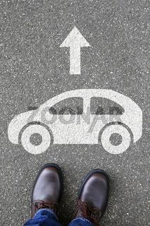 Mann Mensch Auto Fahrzeug Straße Verkehr Mobilität