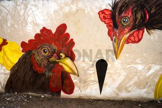 Wandmalerei in Olbia, Sardinien