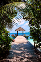Maldives, a place on the beach for weddings.