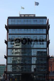 Bürogebäude am Sandtorkai in der Hamburger Hafencity
