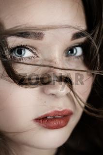 sad woman portrait