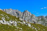 Hiking in the Prättigau region,St. Antönien, Prättigau, Graubünden, Grisons, Switzerland