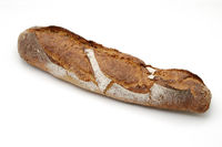 Bread over whitw background.