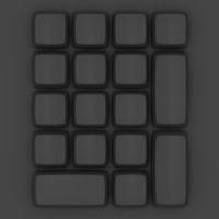 Topview of a blank black keypad