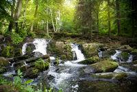 Waterfall in Harz Selke waterfall