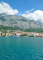 Makarska Town at adriatic Sea,Makarska Riviera,Dalmatia region,Croatia