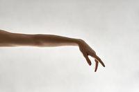 Closeup photo of female arm