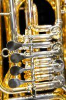 tuba rotary valves closeup