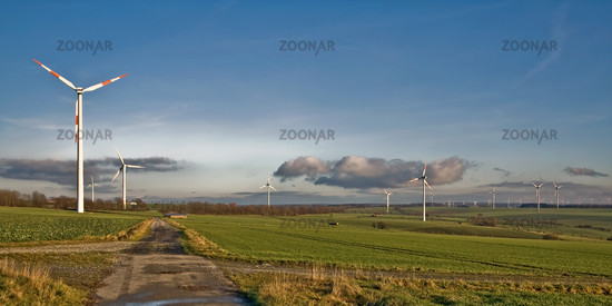 Windkraftanlagen bei Haaren