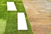 Lay turf on prepared ground